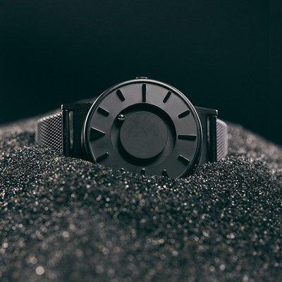 歐美手錶恒圓EONE手表男磁懸浮創意概念磁力鋼珠盲人蟲洞概念手表BR-BLK