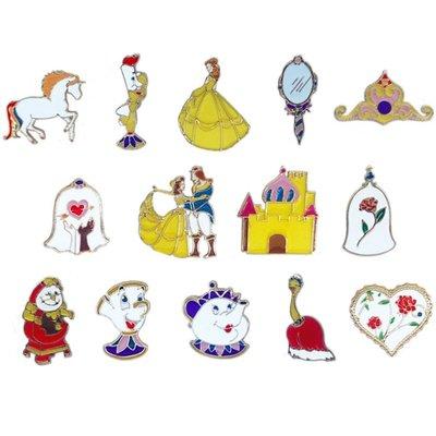 韓版美女與野獸領針配飾王子與公主童話故事系列卡通動物滴油胸針