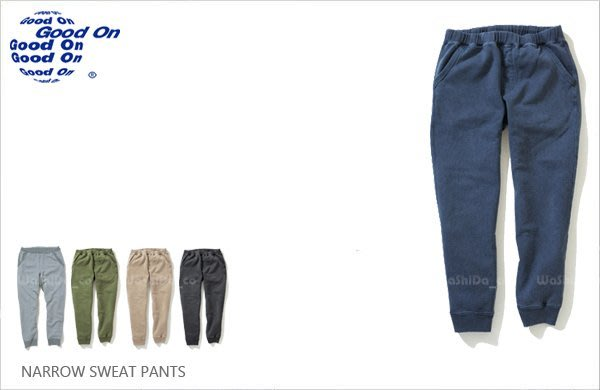 WaShiDa【GOBW1418P】Good On 日本品牌 NARROW SWEAT PANTS 束口 長棉褲 窄版