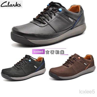 clarks克拉克男鞋GORE-TEX商務休閒防水皮鞋低幫系帶健步男鞋39-44