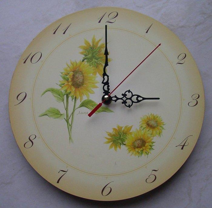 向日葵鐘 向日葵板 時鐘 掛鐘 藝術鐘