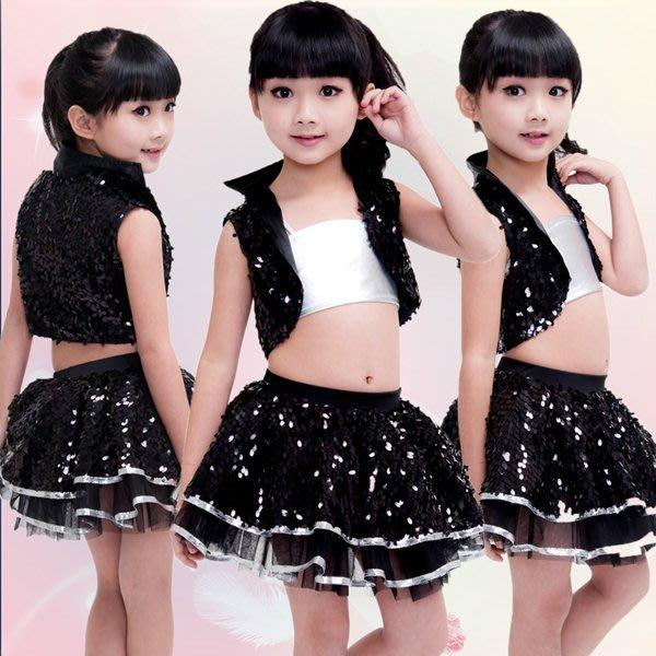 5Cgo【鴿樓】會員有優惠 36274239088 兒童現代舞表演服裝亮片男童女童爵士舞街舞演出服勁舞搖滾 兒童舞衣
