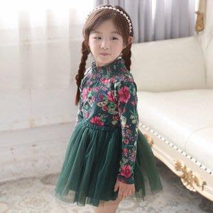 幼幼童裝韓國韓版秋款女童洋裝優雅復古風格網紗洋裝 新貨到