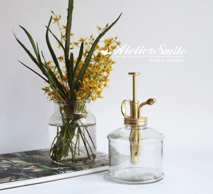 [ Atelier Smile ] 鄉村雜貨 日本直送 純銅製 玻璃灑水壺 園藝盆栽  (現+預)