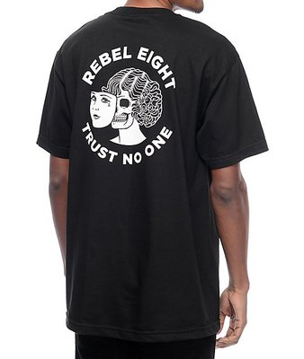 【REBEL8】TWO FACED 純棉圓筒Tee (黑色)