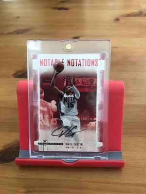 Vince Carter 同背號15/25 Prospects Notable Notations Auto 簽名卡