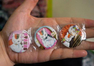 [瘋日本*日版動漫商品-夏目友人帳-貓咪老師-三入組 別針 胸章-特價200元 東京帶回