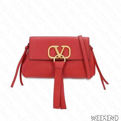 【WEEKEND】 VALENTINO Vring Vlogo 小款 肩背包 紅色 19秋冬