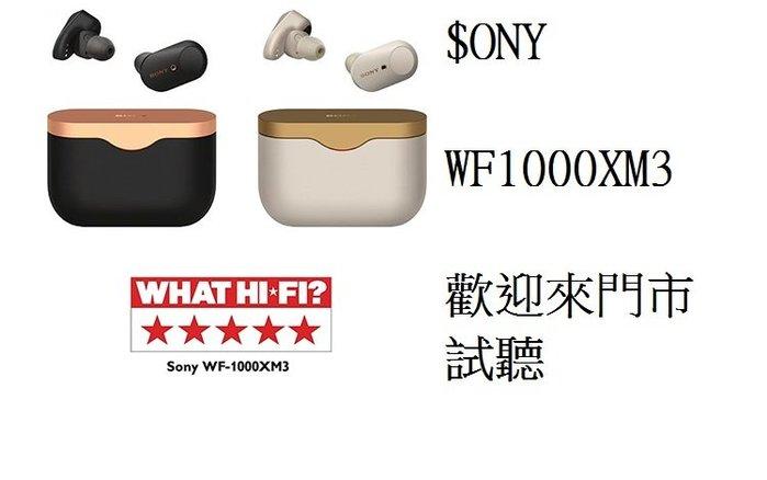 (新竹立聲音響) 加贈電競耳機一隻 台灣公司貨 Sony Wf-1000xm3 真無線藍芽降噪耳機 門市可試聽