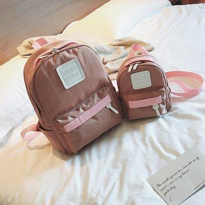手提包 帆布包 鏈條包 百搭 水桶包 韓版簡約時尚雙肩包女 夏季新款潮學生書包氣質大容量旅行包