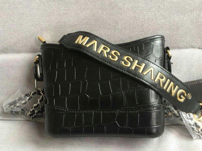 靚品館  日本品牌 Marssharing 正品  真牛皮鱷魚紋流浪包