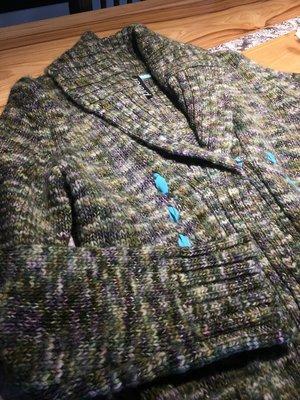 ♥ 搬家出清♥ 買多省多~設計師 I Prefer 文青氣質 粗針織羊毛長外套