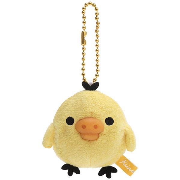 Kiiroitori小黃雞 矽膠軟軟 玩偶鑰匙圈 黃色小雞瑪芬咖啡店 San-X Japan 日本 拉拉熊