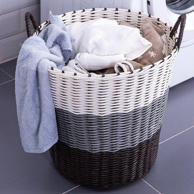 洗衣籃 塑料髒衣籃髒衣服收納筐裝衣物婁籃子放的贓藍框簡約家用洗衣簍桶XC