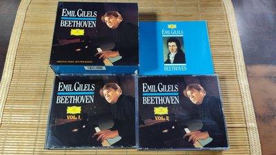 好音悅 半銀圈 吉利爾斯 Gilels 貝多芬 Beethoven 鋼琴奏鳴曲 9CD DG 德PMDC01版