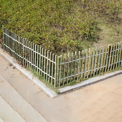 竹籬笆碳化毛竹柵欄花壇庭院簡易圍欄竹片美麗鄉村綠化苗圃室戶外小豬佩奇