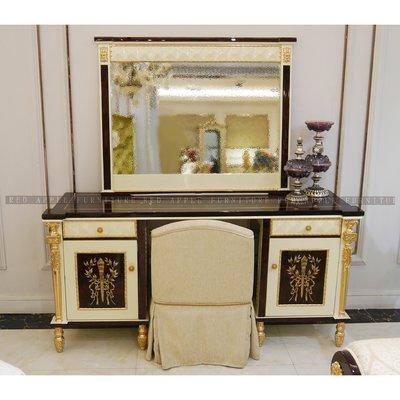[紅蘋果傢俱] CT-039凡賽斯宮廷系列 梳妝桌 新古典 歐式 高檔化妝台
