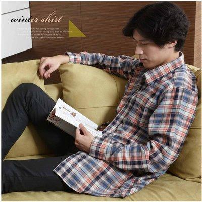 【大盤大】(S61512) 寬鬆 加大尺碼 男 100%純棉襯衫 法蘭絨襯衫 經典格紋 格子 推薦 禮物【XL號斷貨】