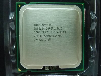 【含稅】Intel Core 2 Duo E6700 2.66G 1066  4M 775 雙核正式CPU 一年保