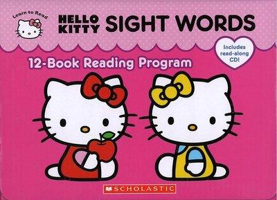 *小貝比的家*HELLO KITTY SIGH WORDS BOX SET /12平裝書+CD/3~6歲