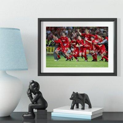 世界杯YYDS~2005年伊斯坦布爾奇跡夜利物相框照片墻送球迷禮物足球公園裝飾