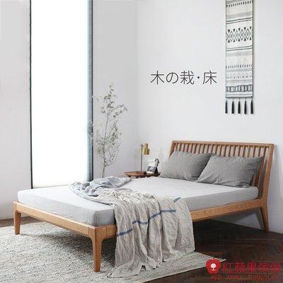 [紅蘋果傢俱]SE024 木栽系列 床架 北歐風床架 日式床架 實木床架 無印風 簡約風