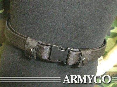 【ARMYGO】勤務褲腰帶(黑色款)