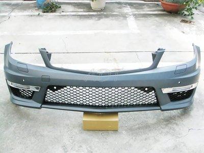 ~~ADT.車燈.車材~~BENZ W204 C63 AMG 前保桿+日行燈一套 8000  PP材質