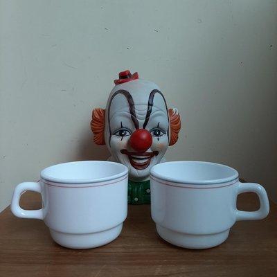 【MarsC】arcopal FRANCE早期老牛奶玻璃咖啡杯