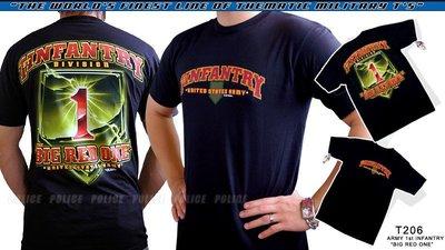 【ARMYGO】美國 7.62 軍事T恤 - 陸軍系列 -ARMY 1st INFANTRY 'BIG RED ONE'