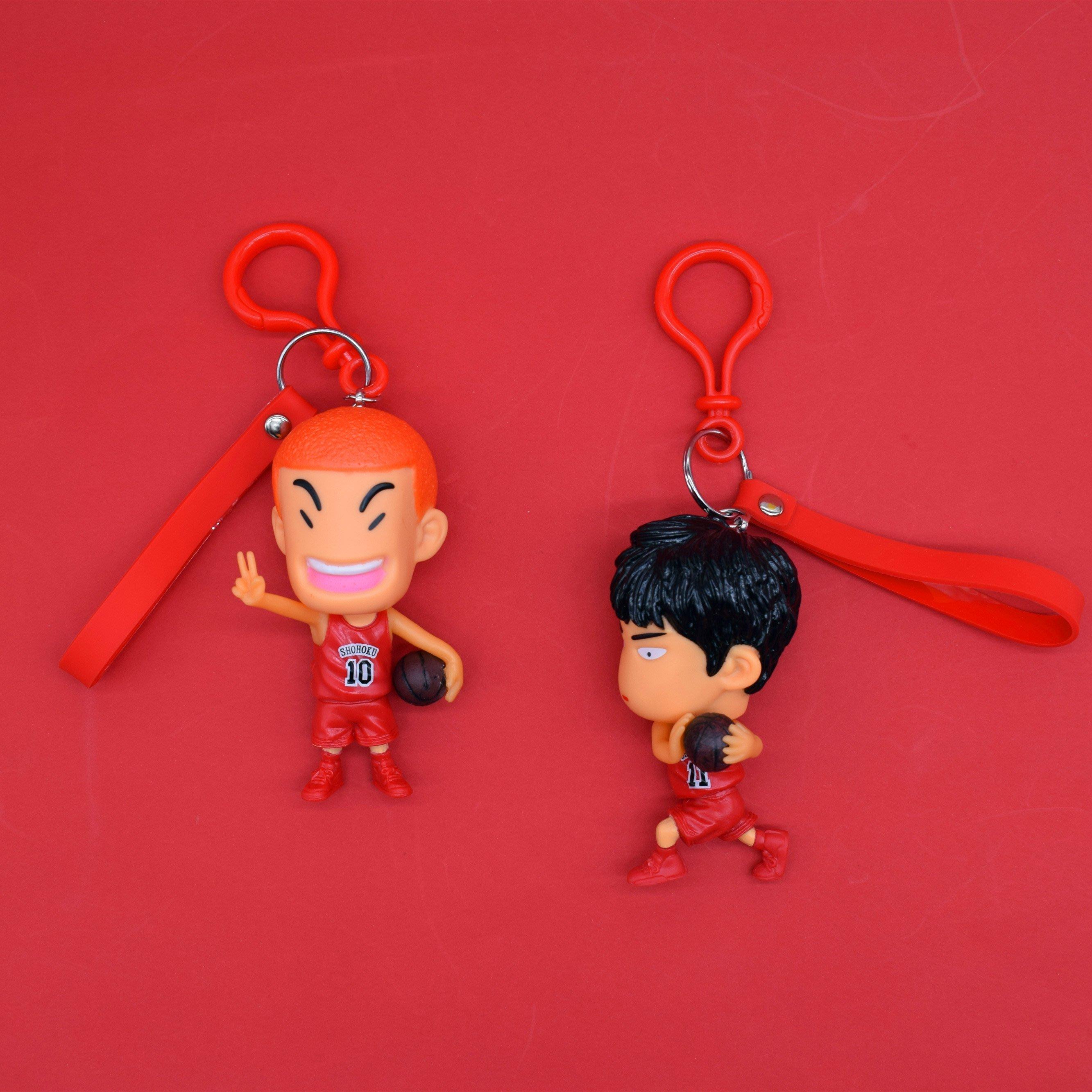 鑰匙圈 鑰匙扣日本灌籃高手流川楓汽車鑰匙扣掛件創意個性書包掛件籃球鑰匙圈