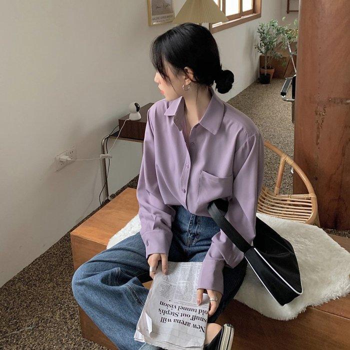 小香風 短袖T恤 時尚穿搭 韓版 網紅慵懶風休閑POLO領寬松百搭長袖襯衫女裝ins