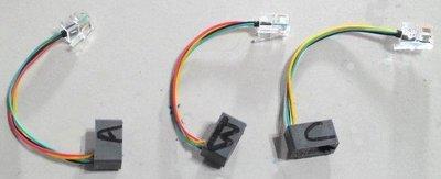 ABC 3條1組 電話話筒轉換線,耳麥 話務耳機麥克風,RJ11水晶頭跳線 電話免持聽筒耳機,客服人員 電訪 電話行銷