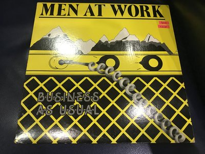 開心唱片 (MEN AT WORK / BUSINESS AS USUAL) 二手 黑膠唱片 CC135
