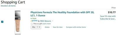 ※美國代購※Physicians Formula The Healthy Foundation with SPF 20