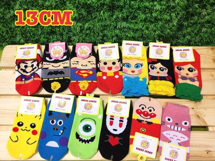 【傳說企業社】韓國直送空運童襪 兒童襪子 超人超級瑪莉蝙蝠俠小丸子迪士尼皮卡丘毛怪大眼仔無臉男麵包超人熊貓