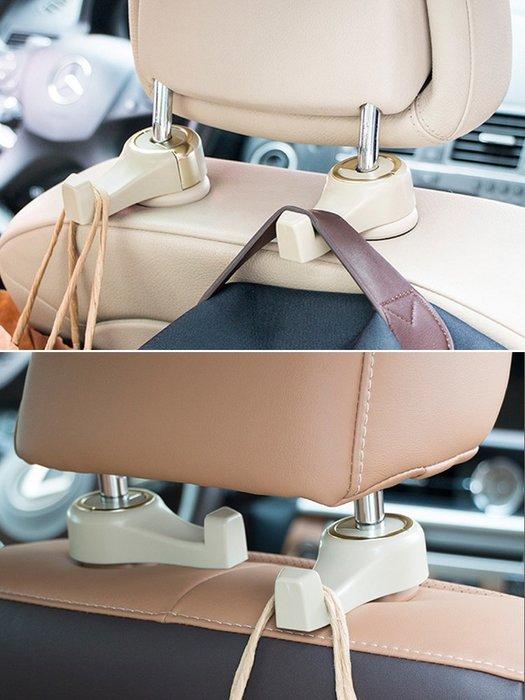 奇奇店-熱賣款 汽車用座椅背隱藏式多功能掛鉤車上車內用品后排座位創意車載掛鉤