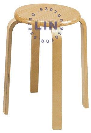 【品特優家具倉儲】584-11餐椅曲木圓高椅