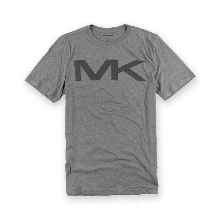 美國百分百【全新真品】Michael Kors 短袖 T恤 MK 上衣 T-shirt 灰色 logo S號 I088