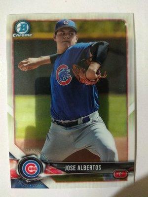 2018 Bowman Chrome Baseball Prospects #BCP229 Jose Albertos
