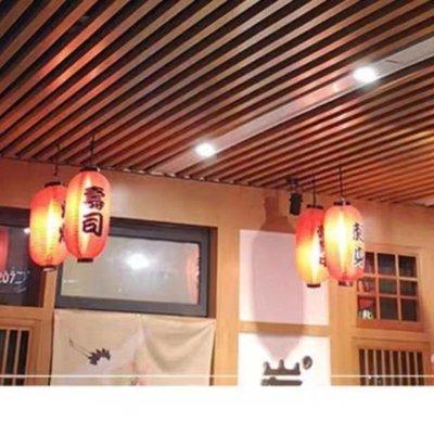 (台灣)木紋鋁方通吊頂方管隔斷鋁格柵吊頂U型槽天花幕墻集成吊頂