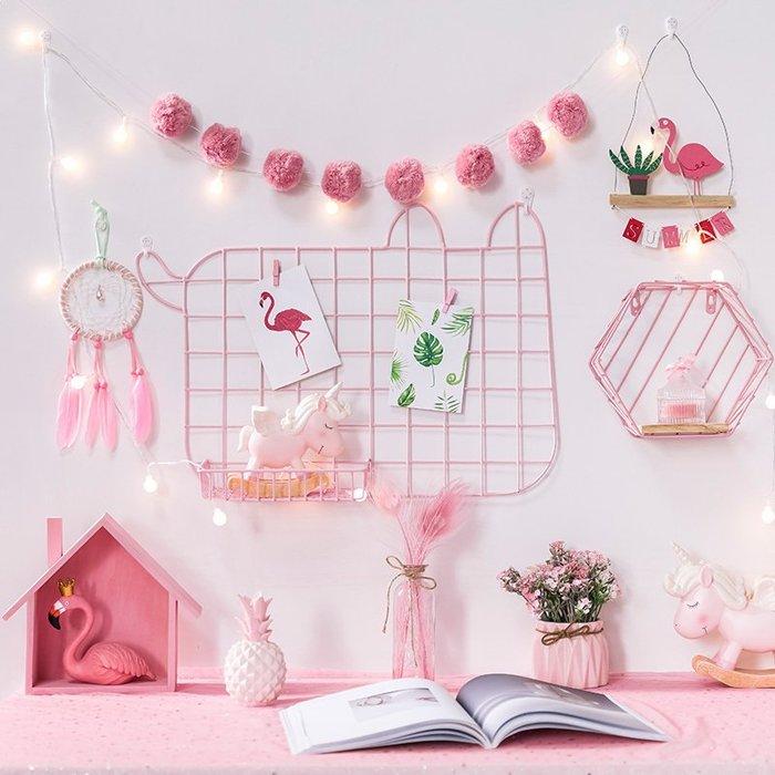 網紅ins房間臥室寢室墻面裝飾品創意墻壁掛件墻上北歐風格置物架#掛件#裝飾#北歐#仿真