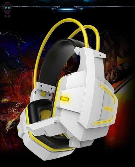 YEAHSHOP 電競耳機電腦耳機頭戴式發光酷炫Y185