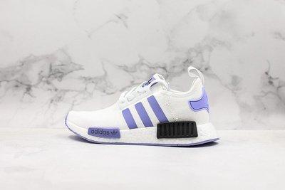"adidas Originals NMD_R1""白紫黑""編織 時尚 休閒運動慢跑鞋 EF2356 情侶鞋"