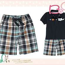 【B& G童裝】正品美國進口GYMBOREE Pull-On Plaid Short 橘灰綠格子短褲6-12mos