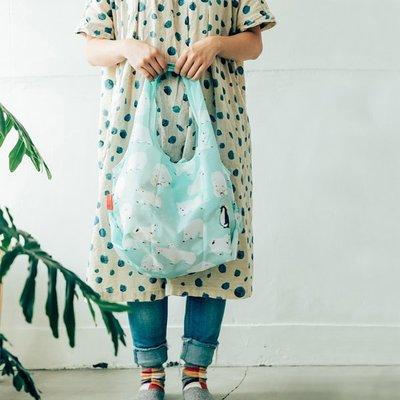 ☘小宅私物☘ 日本 Prairie Dog 設計包 (北極熊) 環保購物袋 摺疊購物袋 環保袋 購物袋 現貨附發票