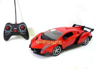 Mini酷啵玩具館~1/ 16 1:16 充電版-仿真外型毒藥藍寶堅尼遙控車 遙控開門跑車~紅色 桃園市