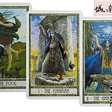 塔羅牌 卡牌 進口正版The Druidcraft Tarot NEW EDITION德魯伊塔羅牌新版【城南】804