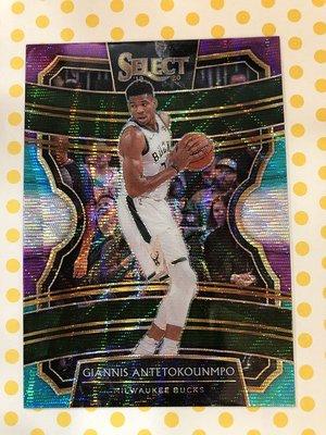 2019-20 NBA Panini Select Giannis Antetokounmpo 字母哥 三色亮卡