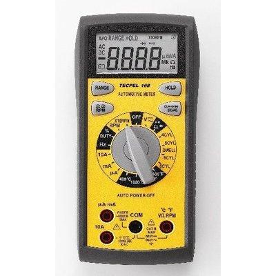 TECPEL 泰菱 》車用電表 汽車三用電錶  DMM-168 白金閉角 轉速
